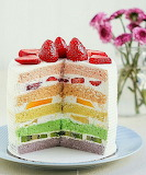 Fruity rainbow cake @ Thirsty For Tea