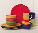 ^ Gibson Home Color dinnerware