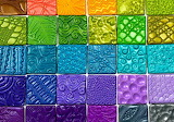 Colorful Polymer Clay Texture Tiles