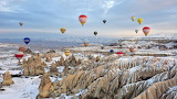 Cappadocia's fairy chimneys, pristine snow beckons winter touris