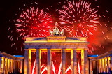Brandenburg gate Berlin, new year, fireworks