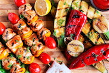 #Chicken Kebabs and Grilled Veggies