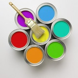 3959927-a-group-of-colorful-paint-cans-with-paintbrush
