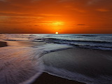 Sunrise beach waves photography argentina buenos aires