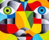 Colourful Wall Mural by Tom Clarke...