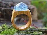 Glass-and-wood-ring-