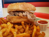 ^ Arby's Roast Beef Sandwich with curly fries