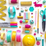 Colorful stationary