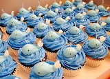 Rotate the whale cupcakes