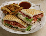 ^ Turkey BLT, fries