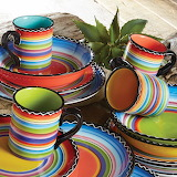 ^ Tequila Sunrise dinnerware