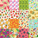 Repetitive Designs Fruit Collage