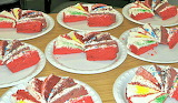 Rotate the cake slices @ The Bake More