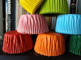 Colorful rainbow muffin papers