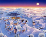 Snow Covered Village by Robin Moline