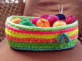 ^ Crochet Basket