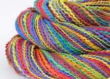 ^ Homespun rainbow yarn