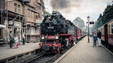 Vintage Steam Train in Germany