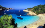 In Ibiza Island, Spain-Cala Salada-beach