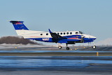 Alaska State Troopers Beechcraft King Air arriving at Anchorage