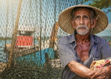 elderly fisherman