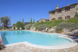 Traditional stone countryside villa, and pool in Umbria, Italy