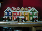 Colorful gingerbread houses