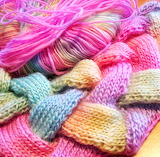 Soft pastels yarn knit