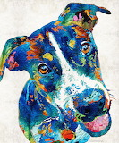 Colorful Dog by Sharon Cummings (For abrand)