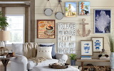 Vintage coastal cottage look