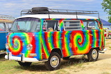 Tie-Dyed VW Bus