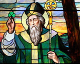 St. Patrick Stained Glass Window
