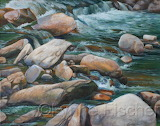 Smoky Mountain Stream by Lynne Fischer