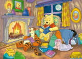 Pooh by fire