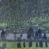 Forest Slope in Unterach on the Attersee, Gustav Klimt