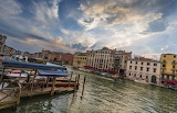 Italy Houses Marinas Sky Venice Canal Clouds Canal Grande Cities