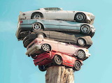 Stacked Cars - Sculpture