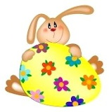 9124414-easter-bunny-with-a-painted-egg