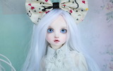 White hair pretty doll new