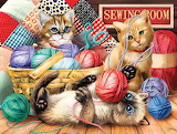 Yarn with kittens