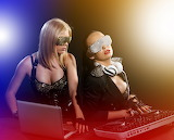Two Glamour DJ deejay Music Girls