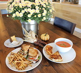 ^ Turkey club, fries, grilled cheese, tomato soup, pumpkin chees