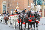 Krakow-horse-drawn carriages, tourism