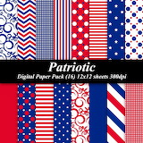 Patriotic Wrapping Paper