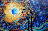 Abstract tree and moon
