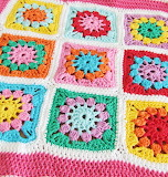 Pastel Crocheted Granny Squares