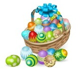11531593-easter-basket-of-colourful-painted-easter-eggs-with-blu