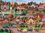 Labor Day in Bungalowville by Charles Wysocki