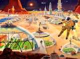 #Imagined Mars Colony by Robert McCall