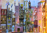 Fantastic Town By Colin Thompson